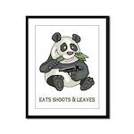 Panda Eats Shoots & Leaves Framed Panel Print