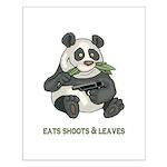 Panda Eats Shoots & Leaves Small Poster