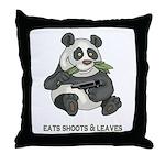 Panda Eats Shoots & Leaves Throw Pillow