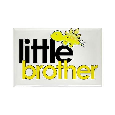 little brother t-shirt dinosaur Rectangle Magnet
