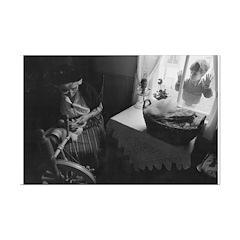 Grandma Spinning Poster Print Print