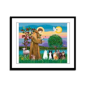 Sister Frances - 5 cats Framed Panel Print