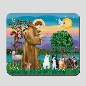 Sister Frances - 5 cats Mousepad