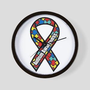 Autism Ribbon Wall Clock