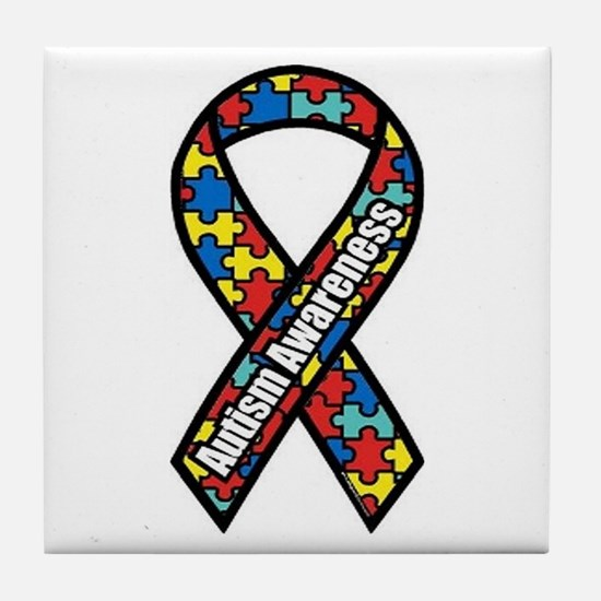 Autism Ribbon Tile Coaster