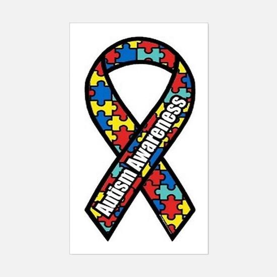Autism Ribbon Rectangle Decal