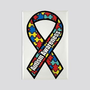 Autism Ribbon Rectangle Magnet (10 pack)