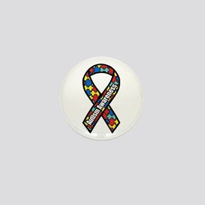 Autism Ribbon Mini Button