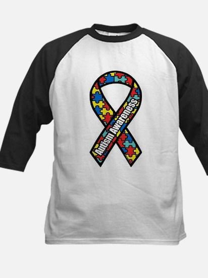 Autism Ribbon Kids Baseball Jersey