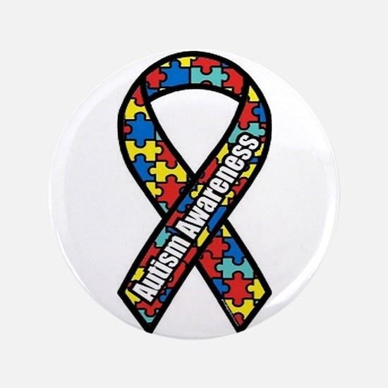 "Autism Ribbon 3.5"" Button (100 pack)"