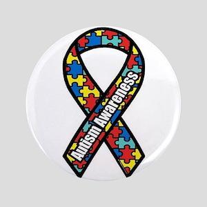 "Autism Ribbon 3.5"" Button"
