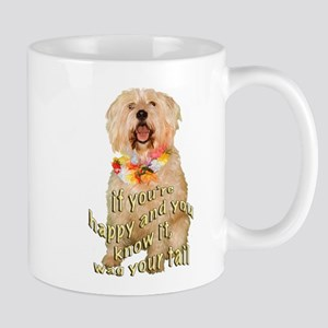 happy wheaten terrier Mug