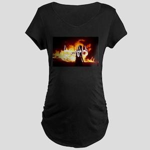 Beautiful Pyro Maternity Dark T-Shirt