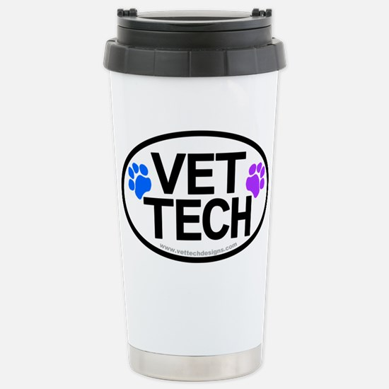 Stainless Steel Travel Mug - VET TECH oval design