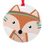 Felix Fox Round Ornament