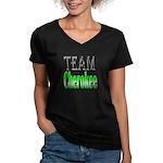 Team Cherokee Women's V-Neck Dark T-Shirt