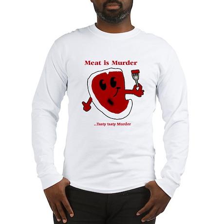 Meat is Murder Tasty tasty Mu Long Sleeve T-Shirt