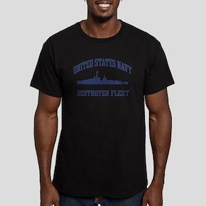 Navy Destroyer Men's Fitted T-Shirt (dark)