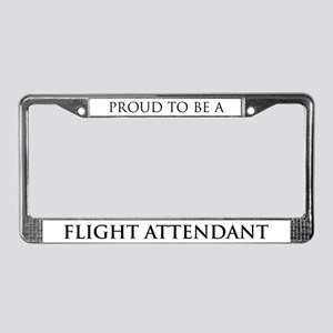 Proud Flight Attendant License Plate Frame