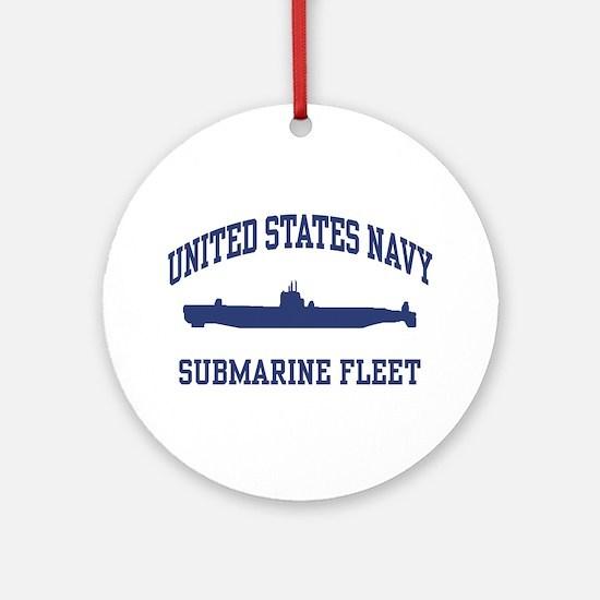 Navy Submarine Ornament (Round)