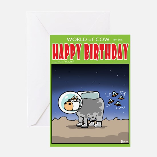 AstroCow Greeting Card
