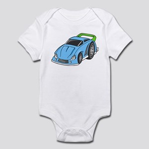 Sky Blue Sports Car Infant Bodysuit