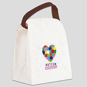 pink autism awareness Canvas Lunch Bag