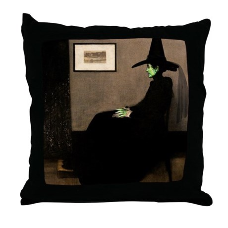 Whistler's Wicked Witch Throw Pillow