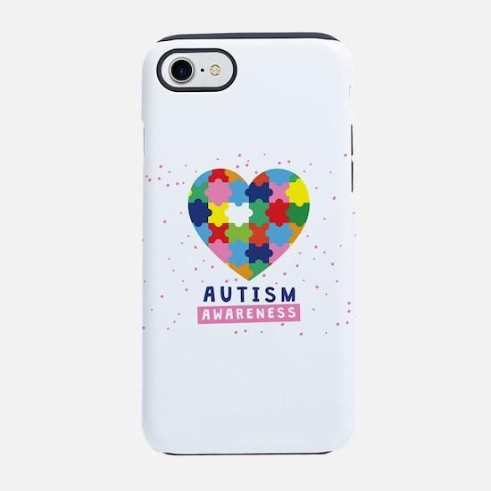 pink autism awareness iPhone 7 Tough Case