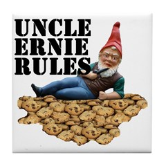 Gnomes and Cookies Tile Coaster