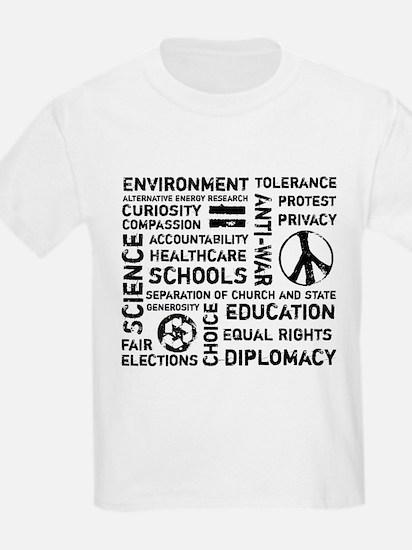 Liberal Values 2 Kids T-Shirt