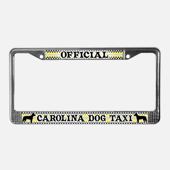 Official Carolina Dog Taxi License Plate Frame