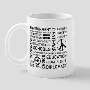 Liberal Values 2 Mug
