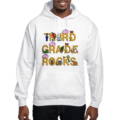 Third Grade Rocks Hooded Sweatshirt
