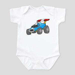Sky Blue Race Car Infant Bodysuit