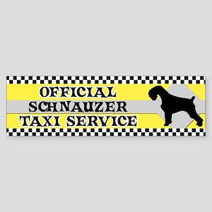 Official Schnauzer Taxi Bumper Sticker