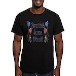 Birthday Balloons Men's Fitted T-Shirt (dark)