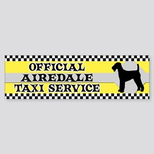 Official Airedale Taxi Bumper Sticker