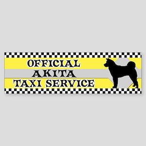Official Akita Taxi Bumper Sticker