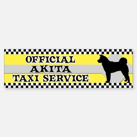 Official Akita Taxi Bumper Bumper Bumper Sticker