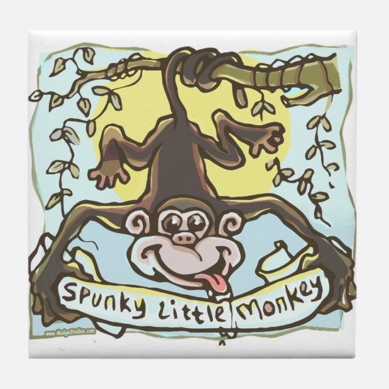 Spunky Little Monkey Tile Coaster