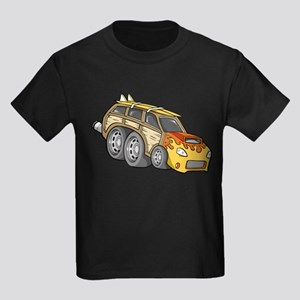 Yellow Woodie with Surfboards Kids Dark T-Shirt