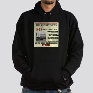 born in 1928 birthday gift Hoodie (dark)