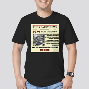 born in 1929 birthday gift Men's Fitted T-Shirt (d
