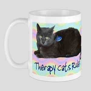 """Therapy Cats Rule!"" Mug"