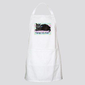 """Therapy Cats Rule!"" BBQ Apron"