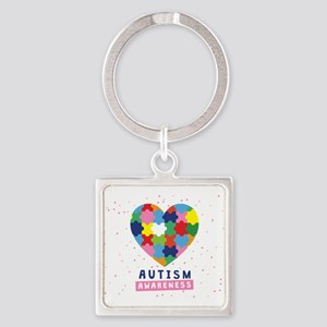 pink autism awareness Keychains