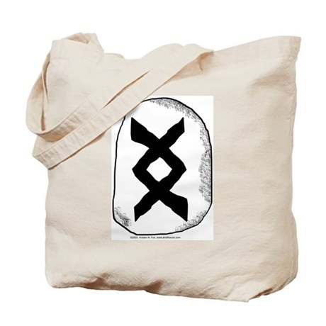 Viking Rune Inguz Tote Bag By Artoffoxvox