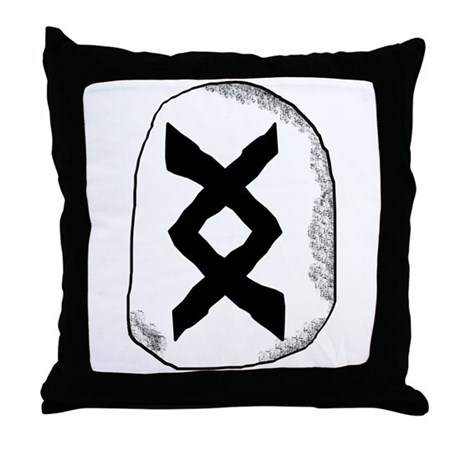 Viking Rune Inguz Throw Pillow By Artoffoxvox