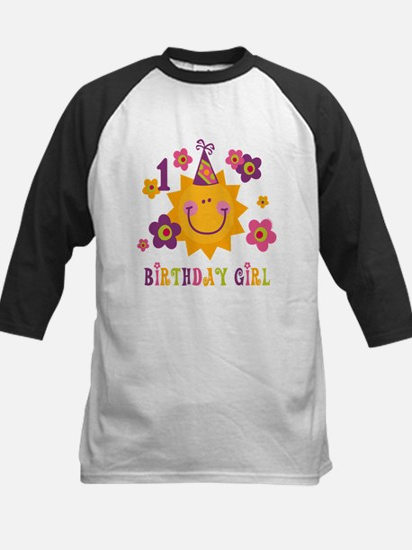 Sun 1st Birthday Kids Baseball Jersey